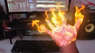AE教程-火焰手所需素材和插件