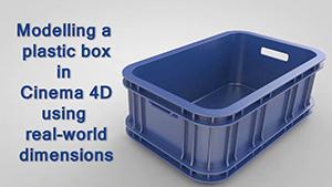 C4D塑料箱精模教程素材文件